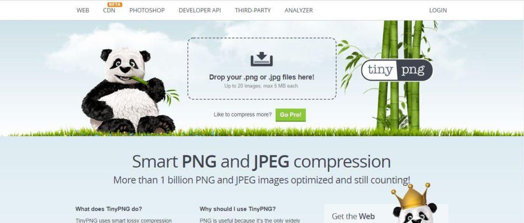 Tiny Pngの画面イメージ