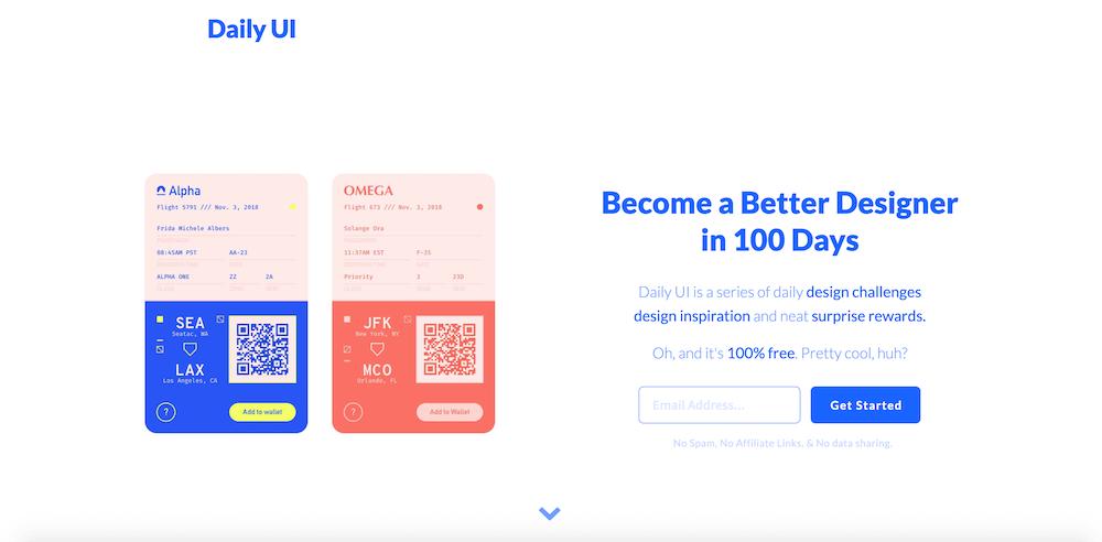 Daily UIの画面イメージ